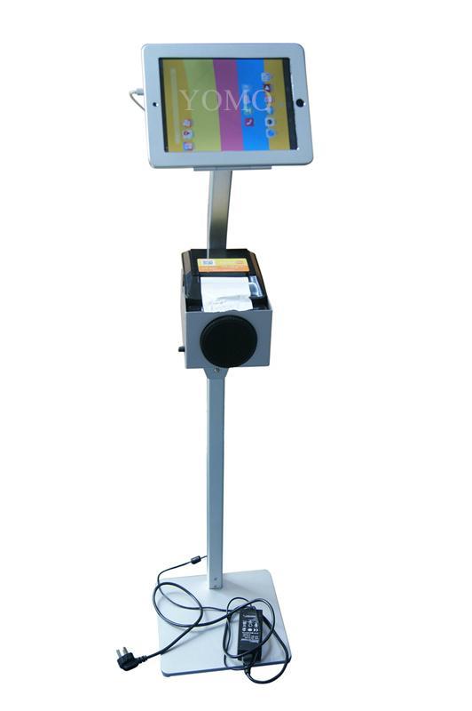 平板iPad落地支架 医院餐馆排队叫号 打印机托盘 4