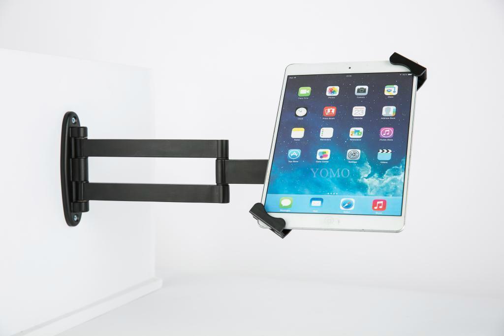 挂墙折叠伸缩IPAD支架 平板电脑防盗支架 带锁支架 18