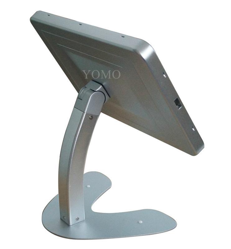 桌面带锁平板 铝合金防盗展示平板 12.9寸iPad proV型底桌面支架 11
