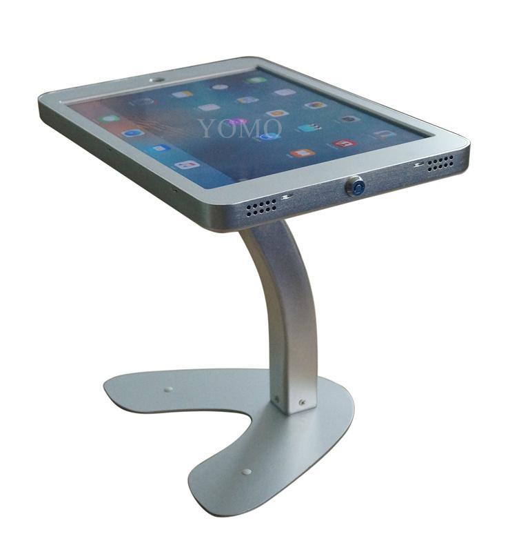 桌面带锁平板 铝合金防盗展示平板 12.9寸iPad proV型底桌面支架 13