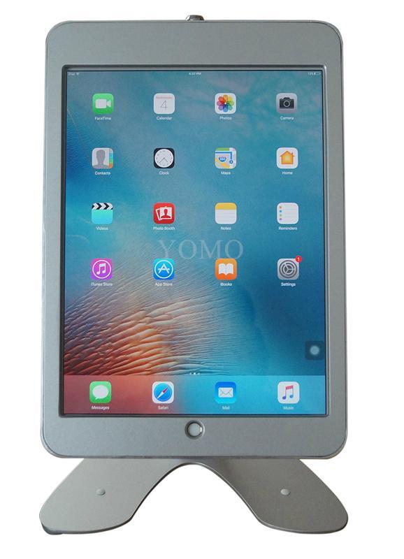 桌面带锁平板 铝合金防盗展示平板 12.9寸iPad proV型底桌面支架 14