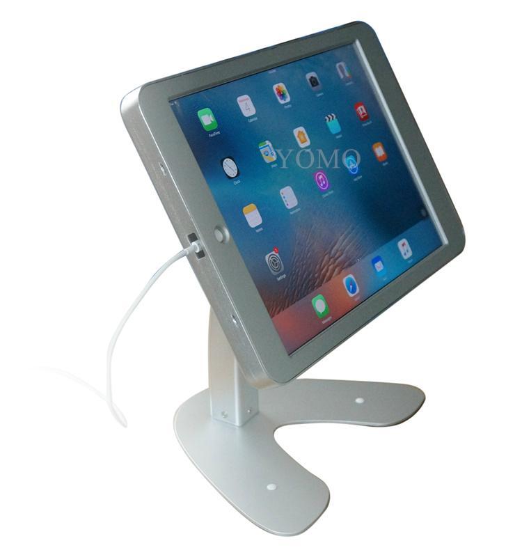 桌面带锁平板 铝合金防盗展示平板 12.9寸iPad proV型底桌面支架 15