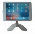 桌面带锁平板 铝合金防盗展示平板 12.9寸iPad proV型底桌面支架 16