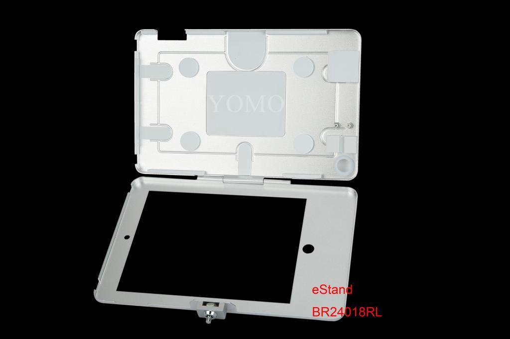 藏線IPAD支架 貼牆展示架 充電平板支架螺絲固定 4