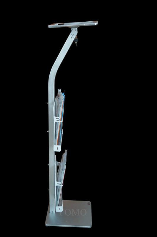 展会展览 落地带锁展IPAD支架带宣传册子网篮铁框 4