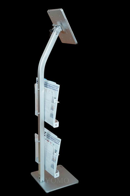 展会展览 落地带锁展IPAD支架带宣传册子网篮铁框 8