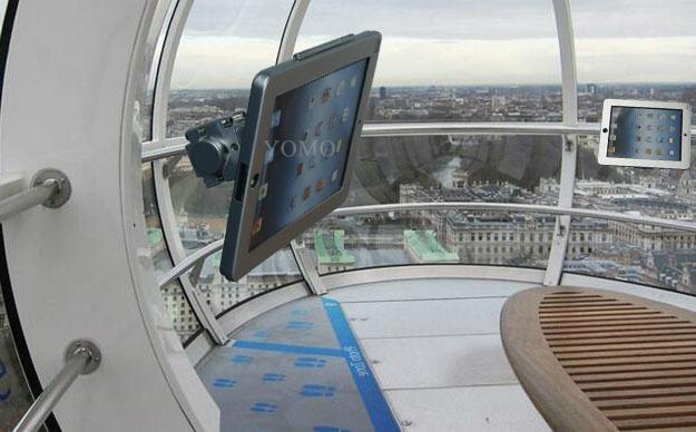 IPAD,IPAD PRO平板电脑支架 固定于购物车 摩天轮的圆柱上 2