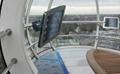 Ipad Brackets/Kiosk Installed on cylinder of the shopping trolley Ferris wheel   2