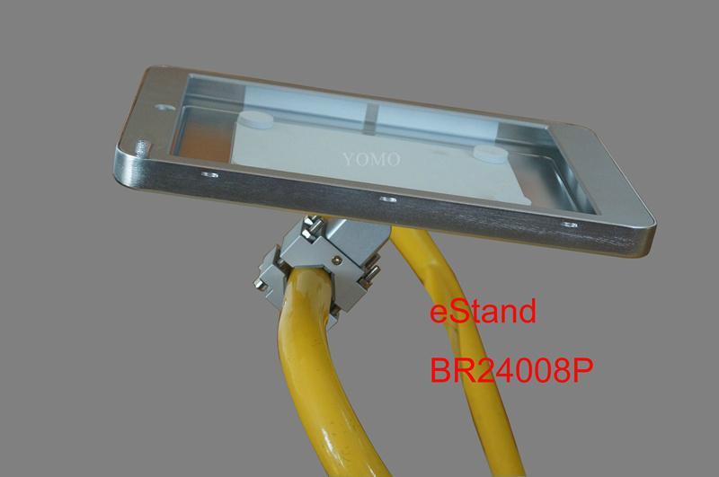 Ipad Brackets/Kiosk Installed on cylinder of the shopping trolley Ferris wheel   6