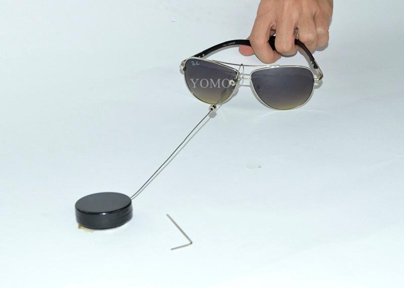 眼镜展示防盗器 眼镜防盗绳 伸缩防盗链 商品防盗器  2