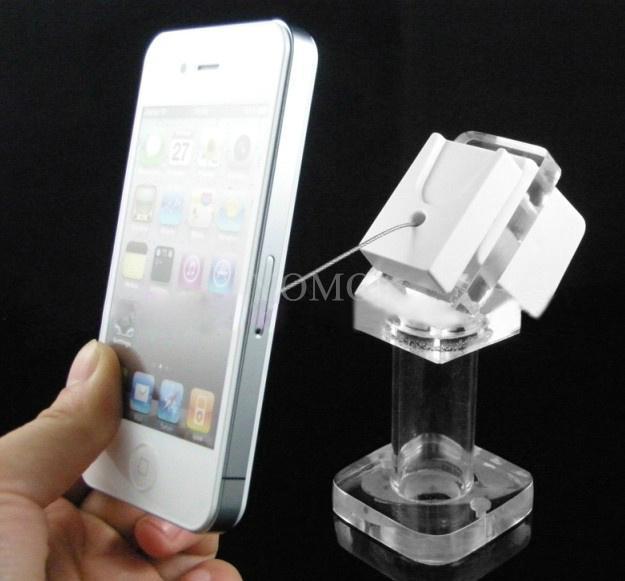 手机钢丝绳防盗展示架 手机模型展示架 手机防盗支架 3