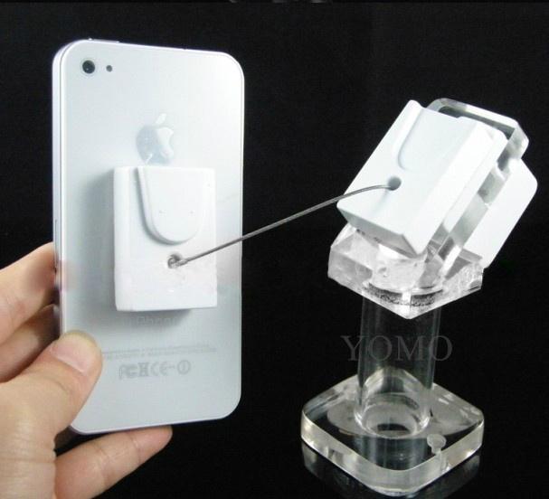 手機鋼絲繩防盜展示架 手機模型展示架 手機防盜支架 2