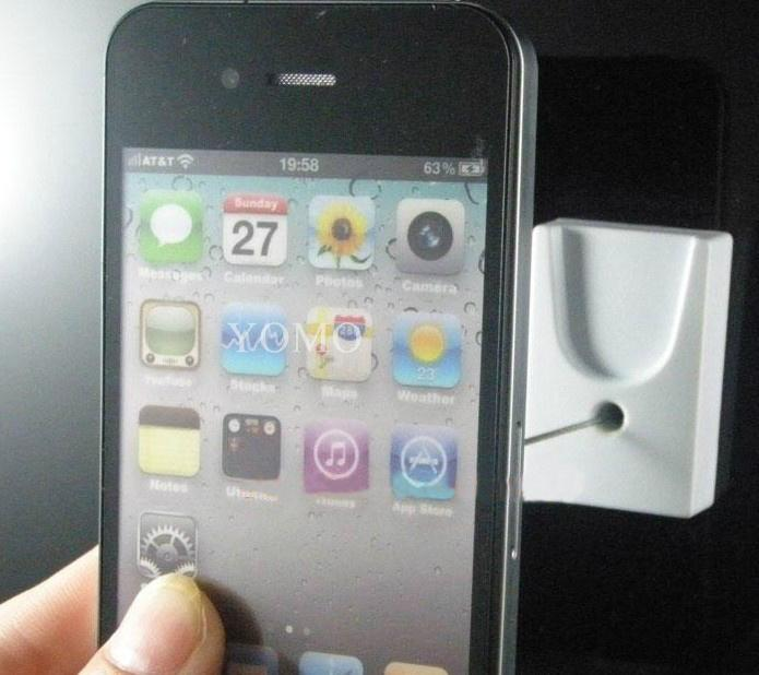 手機鋼絲繩防盜展示架 手機模型展示架 手機防盜支架 5