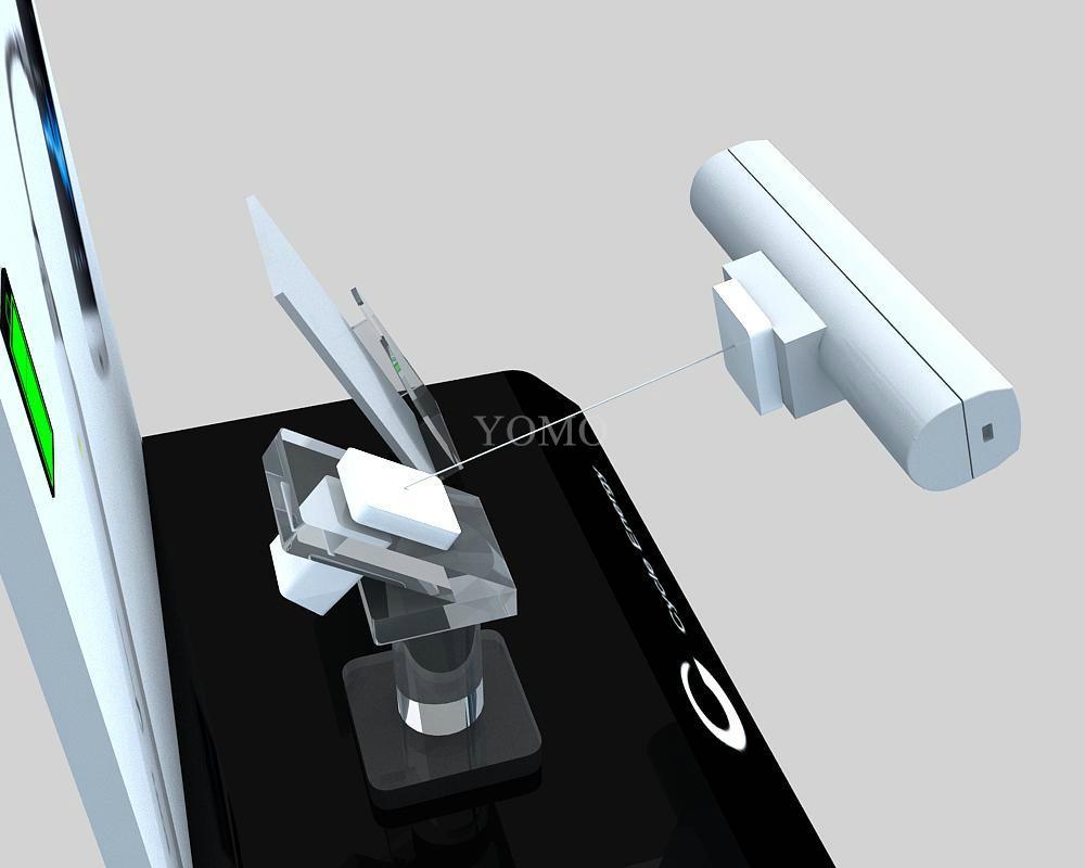 手機鋼絲繩防盜展示架 手機模型展示架 手機防盜支架 1