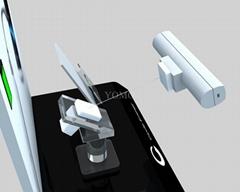 手機鋼絲繩防盜展示架 手機模型展示架 手機防盜支架