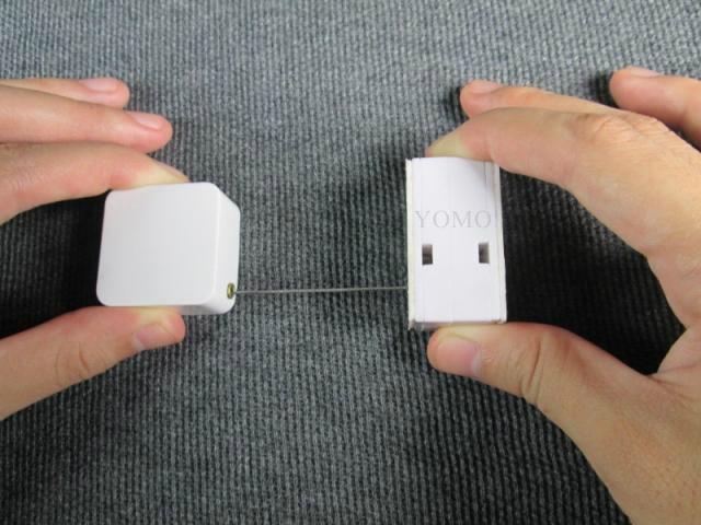 防盜拉線器 自動伸縮防鏈 鋼絲繩拉線盒 收線器 易拉扣 防盜盒  2