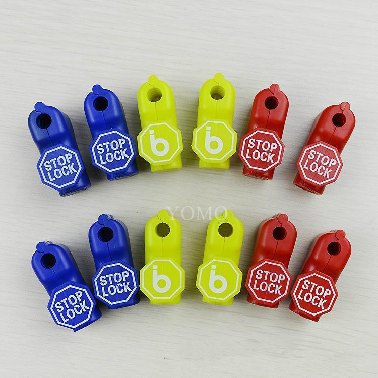 小紅鎖扣 商場貨架挂鉤鎖 配件展示架防盜扣 超市防盜挂鉤鎖 1