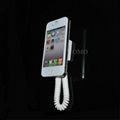 Cell phone Security Display stand, Retractable spring sensor for cellphone