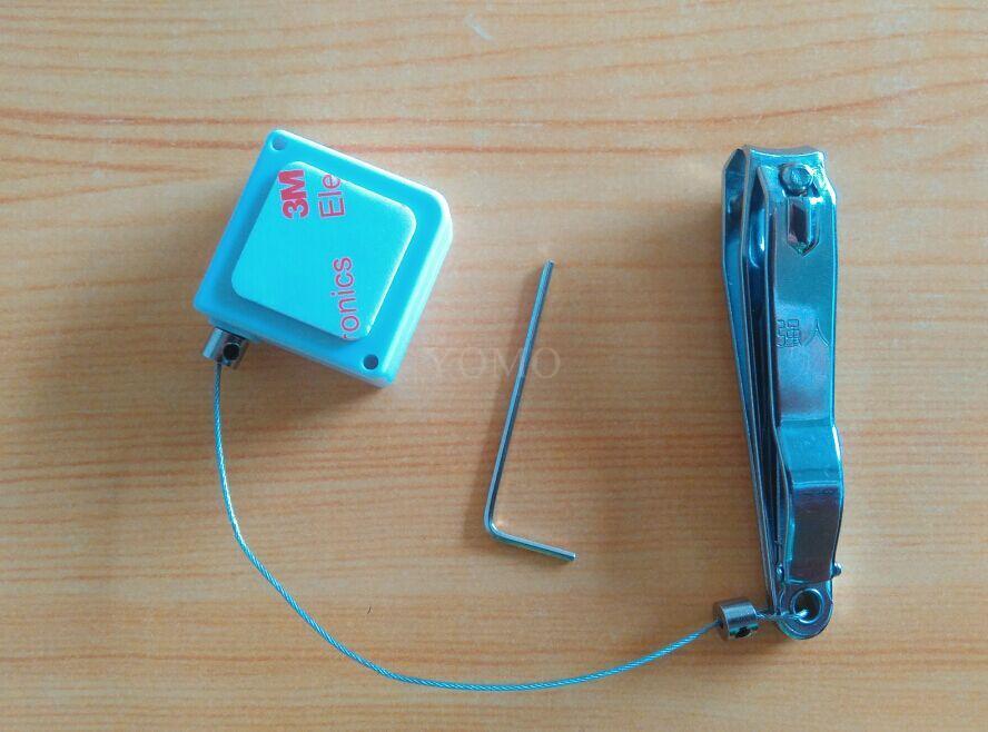 防盜展示鋼絲拉線盒 易拉扣 自動伸縮盒 3