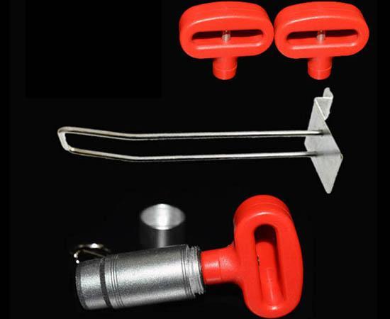 双孔挂钩锁扣 U型双排金属挂钩锁 强磁力挂钩锁 4