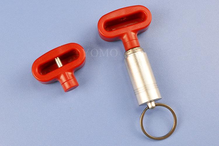 双孔挂钩锁扣 U型双排金属挂钩锁 强磁力挂钩锁 2