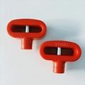 双孔挂钩锁扣 U型双排金属挂钩锁 强磁力挂钩锁 8