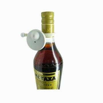 EAS Round Platic Anti-theft Cable Bottle Tag 3
