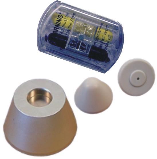 方形墨水標籤 防盜標籤 防盜設備配件 服裝專用防盜扣墨水針 8