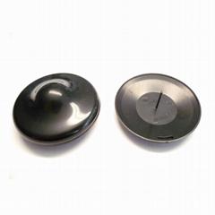 白色小圆标签 圆形超市防盗标签扣 卖场专用防盗磁扣
