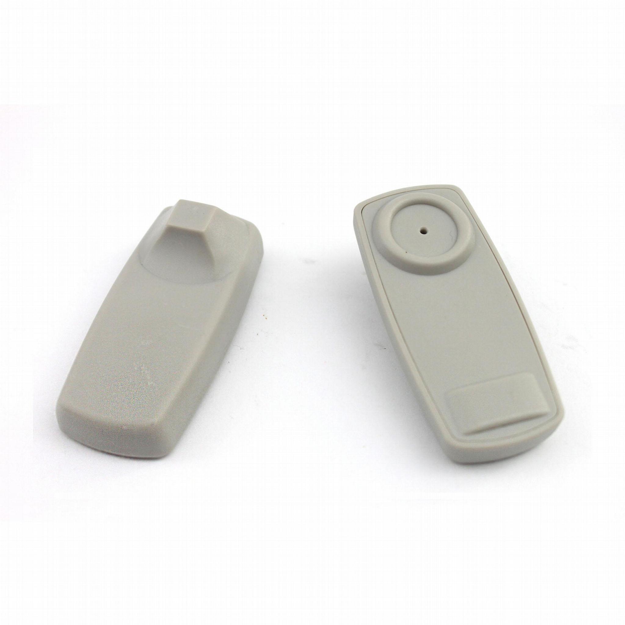 商场电子防盗硬标签 超市防盗扣 服装射频小方含钉 超市防盗标签 1