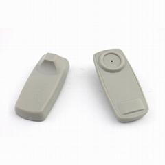 商场电子防盗硬标签 超市防盗扣 服装射频小方含钉 超市防盗标签