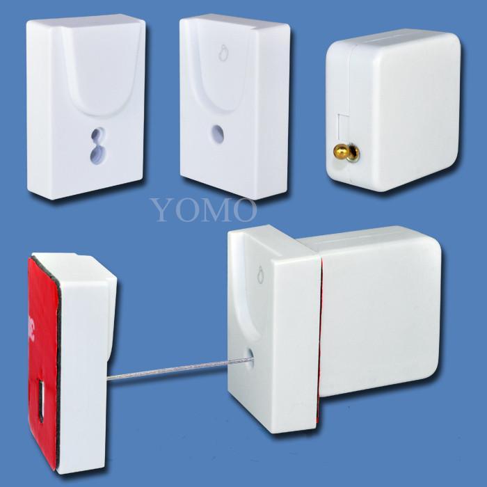 防盜拉線器 自動伸縮防鏈 鋼絲繩拉線盒 收線器 易拉扣 防盜盒  10