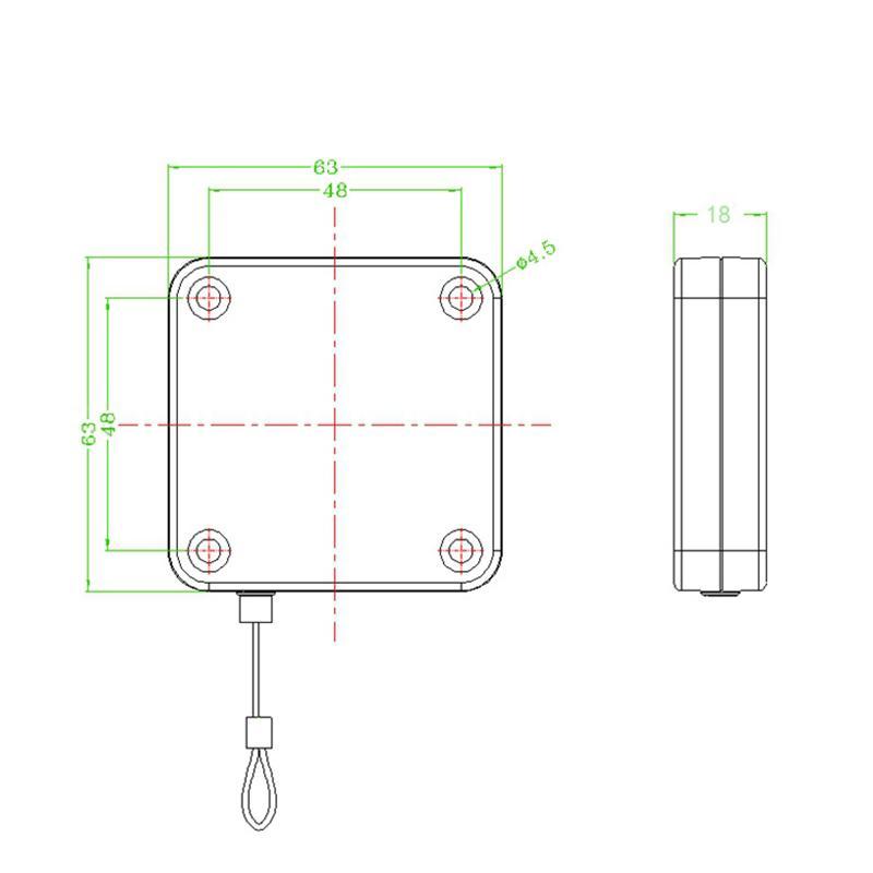 防盜拉繩 拉線盒 高強度回收力易拉扣 16