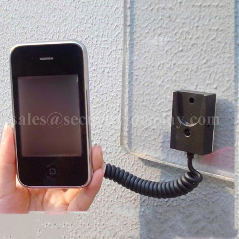 手機展示自動伸縮防盜鏈 拉線盒 磁力座模型防盜器 牆挂拉繩 3