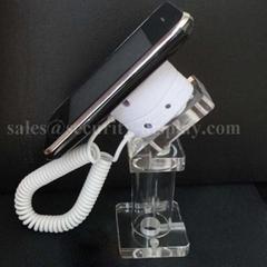 亚克力手机展示支架 透明水晶支架 手机模型展示架 手机防盗支架