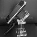 亞克力手機展示支架 透明水晶支架 手機模型展示架 手機防盜支架 3