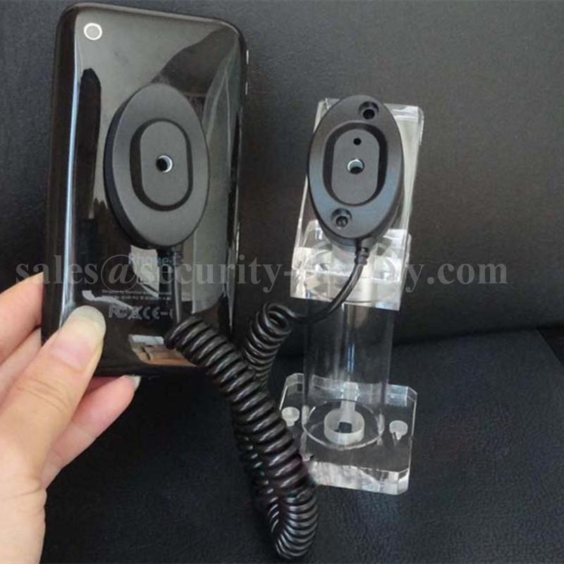 亞克力手機展示支架 透明水晶支架 手機模型展示架 手機防盜支架 4