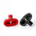 雙孔挂鉤鎖扣 U型雙排金屬挂鉤鎖 強磁力挂鉤鎖 4