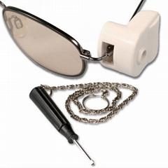 眼镜防盗扣解扣专用取钉器商场眼镜店眼镜防盗标签解扣器