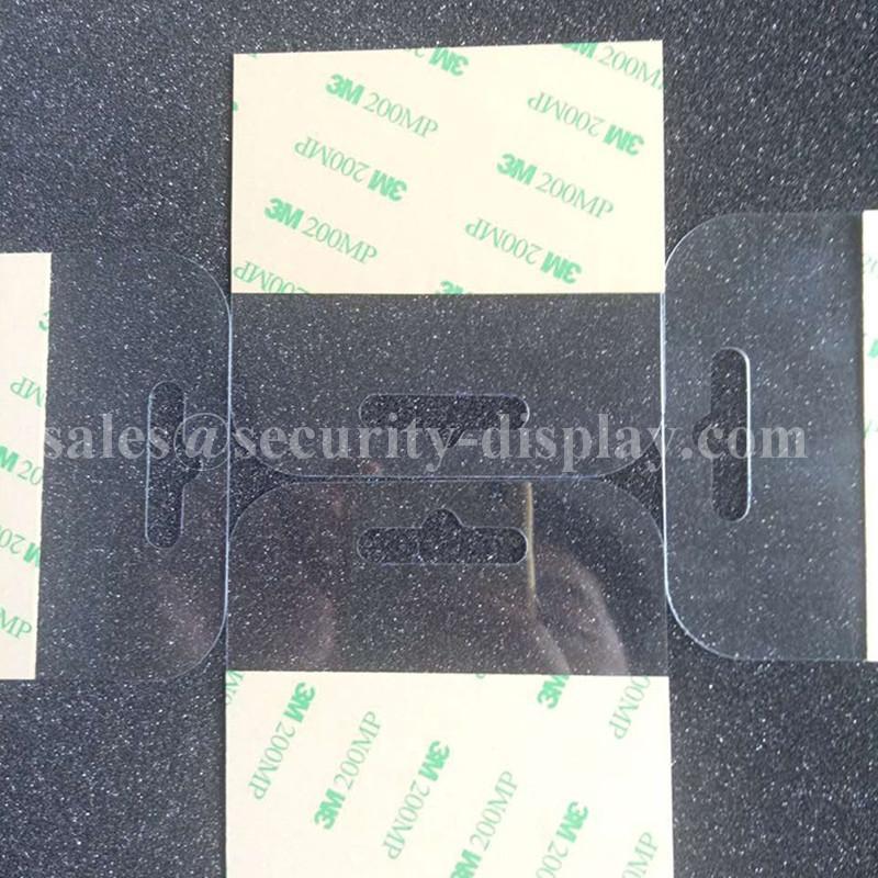 自粘透明PVC挂鉤高粘飛機孔挂鉤PET挂鉤圓孔PP挂鉤包裝彩盒問號鉤 5