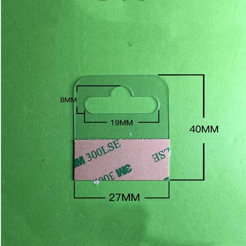 自粘透明PVC挂鉤高粘飛機孔挂鉤PET挂鉤圓孔PP挂鉤包裝彩盒問號鉤 8