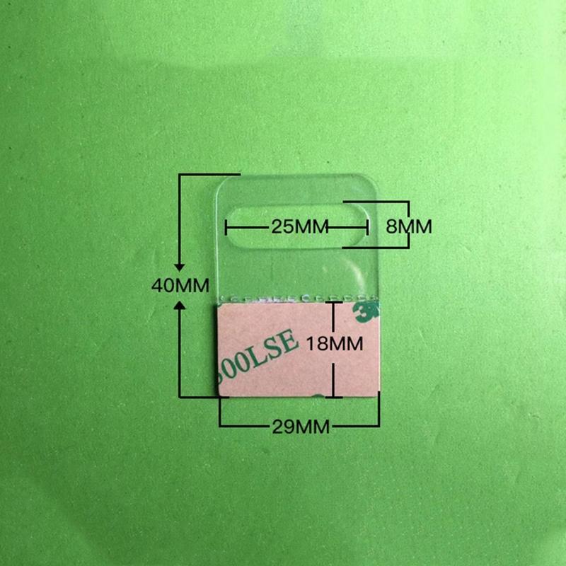 自粘透明PVC挂钩高粘飞机孔挂钩PET挂钩圆孔PP挂钩包装彩盒问号钩 9