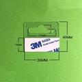 自粘透明PVC挂鉤高粘飛機孔挂鉤PET挂鉤圓孔PP挂鉤包裝彩盒問號鉤 10