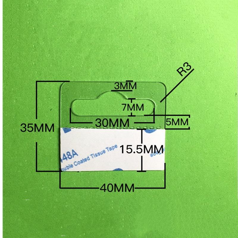 自粘透明PVC挂鉤高粘飛機孔挂鉤PET挂鉤圓孔PP挂鉤包裝彩盒問號鉤 13