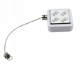 Square Anti-shoplifting Security Recoilers with Adjustable Wire Loop Lanyard