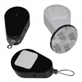 Retractable Key Tether,Tear Shape Anti-Theft Recoiler with Hook End