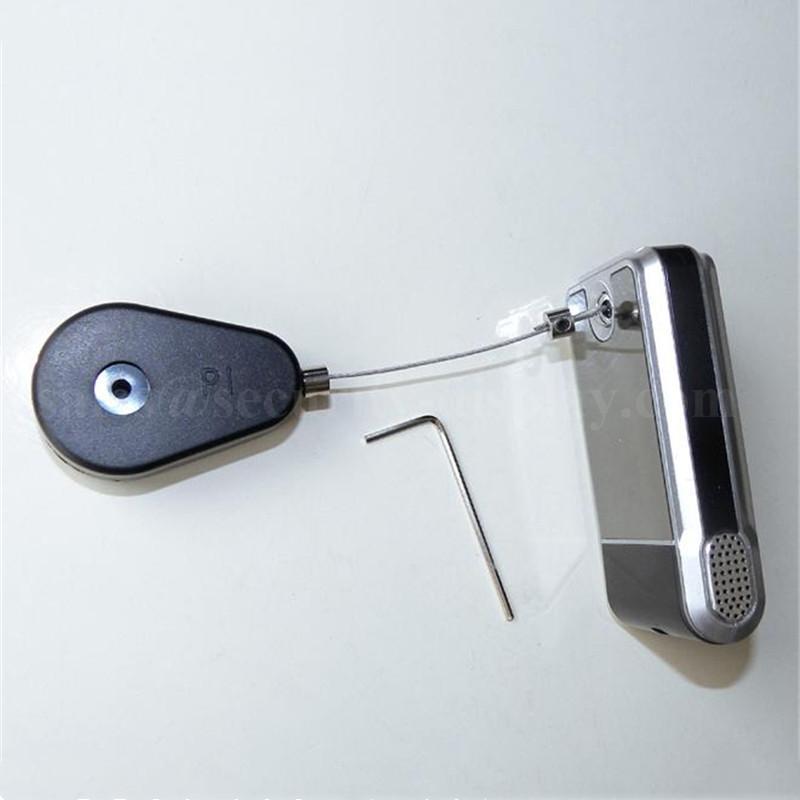 手机展示防盗架 防盗拉线盒 展示品防盗盒 自动伸缩卷线盒  9