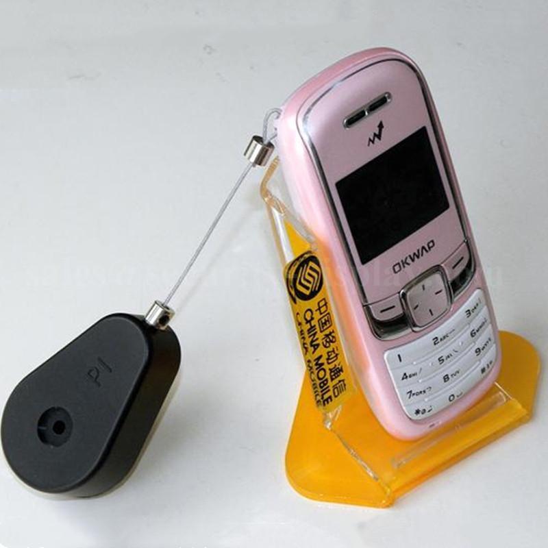 手机展示防盗架 防盗拉线盒 展示品防盗盒 自动伸缩卷线盒  10