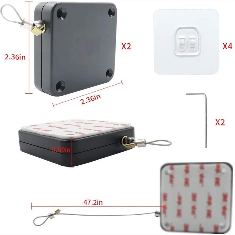 自動閉門器 伸縮拉線器 拉線盒 高強度回收力易拉扣 3