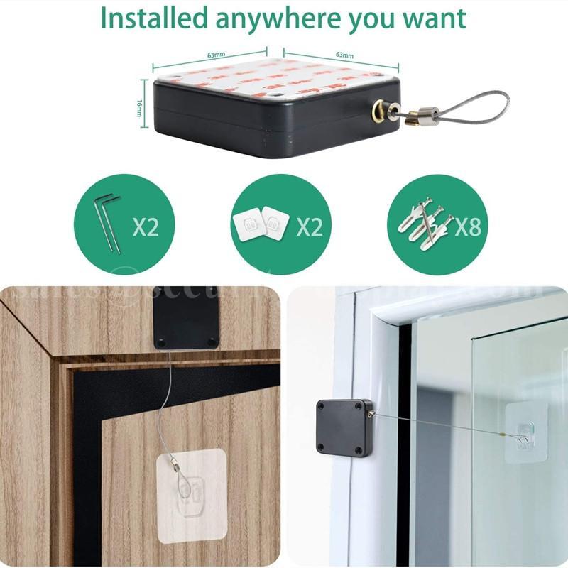 自動閉門器 伸縮拉線器 拉線盒 高強度回收力易拉扣 11